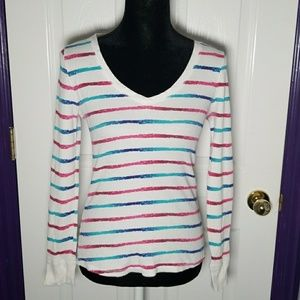 OP white striped thermal long sleeve